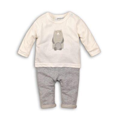 Minoti Kojenecký set bavlněný, tričko a kalhoty, Minoti, IGLOO 1, šedá