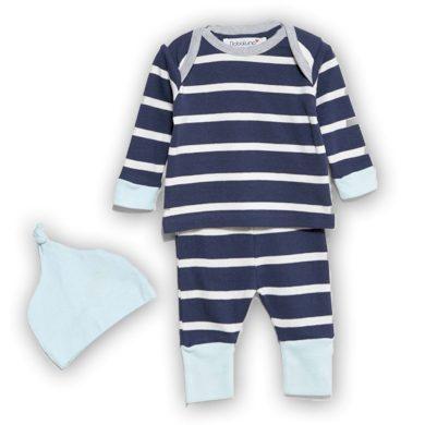 Minoti Kojenecký set bavlněný, tričko, kalhoty a čepička, Minoti, IGLOO 5, modrá