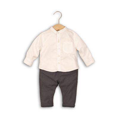 Minoti Kojenecký set, košile a kalhoty, Minoti, GREY 3, kluk