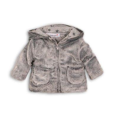 Minoti Kabátek kojenecký chlupatý s bavlněnou podšívkou, Minoti, GREY 5, šedá