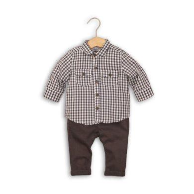 Minoti Kojenecký set, košile a kalhoty, Minoti, GREY 6, šedá