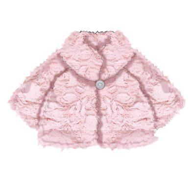 Minoti Kabátek zimní kojenecký chlupatý, Minoti, DANDELION 5, růžová