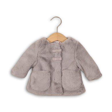 Minoti Kabátek kojenecký chlupatý s bavlněnou podšívkou, Minoti, EYELASH 2, šedá