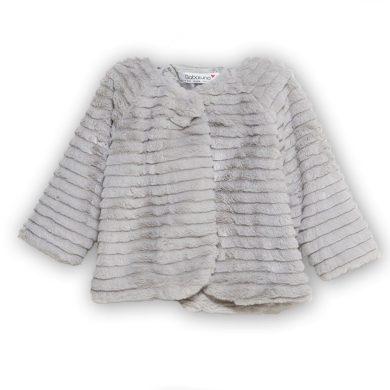 Minoti Kabátek kojenecký chlupatý s bavlněnou podšívkou, Minoti, BOW 2, šedá