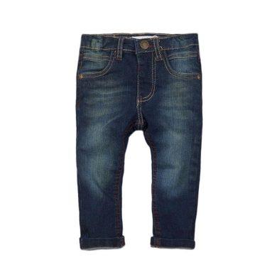 Minoti Kalhoty chlapecké džínové s elastenem a barevným prošíváním, Minoti, ALLSTAR 9, tmavě modrá