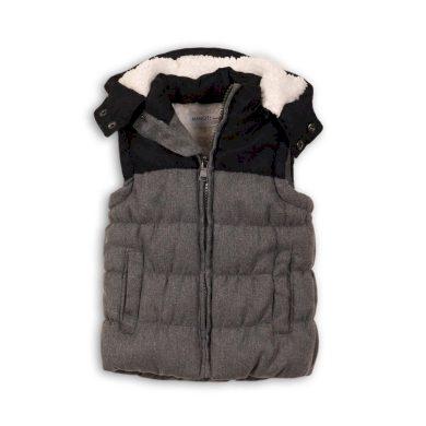 Minoti Vesta chlapecká zimní prošívaná s kapucí, Minoti, KID 7, šedá