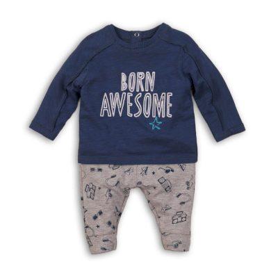 Minoti Chlapecký set bavlněný, tričko a tepláky, Minoti, AWESOME 5, kluk