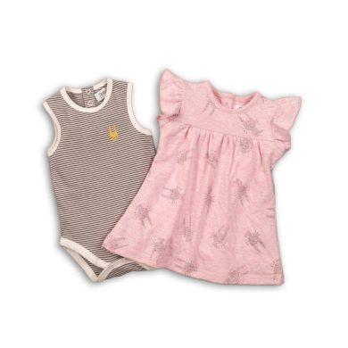 Minoti Dívčí set, body a šaty, Minoti, CROWN 4, růžová