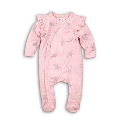 Minoti Overal kojenecký bavlněný, Minoti, CROWN 6, růžová