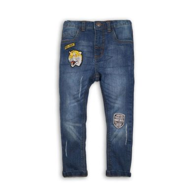 Minoti Kalhoty chlapecké džínové s elastenem, Minoti, TIGER 7, modrá