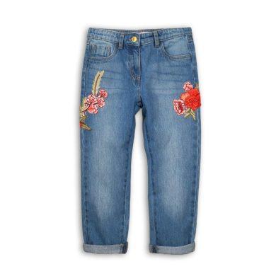 Minoti Kalhoty dívčí džínové s výšivkami, Minoti, UTILITY 9, modrá