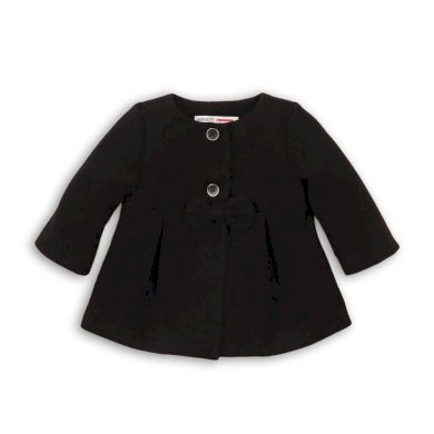 Minoti Kabát dívčí s mašlí, Minoti, SQUIRREL 9, černá