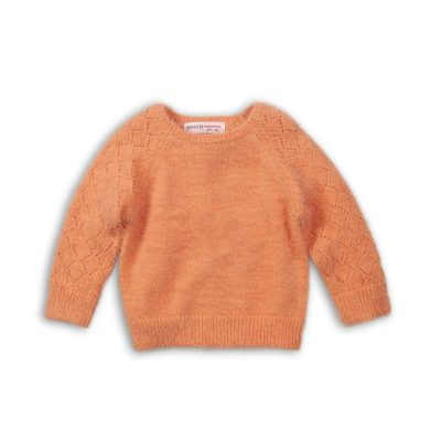 Minoti Svetr dívčí, Minoti, ENCHANTED 11, oranžová