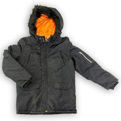 Minoti Kabát chlapecký Parka, Minoti, WORD 3, černá