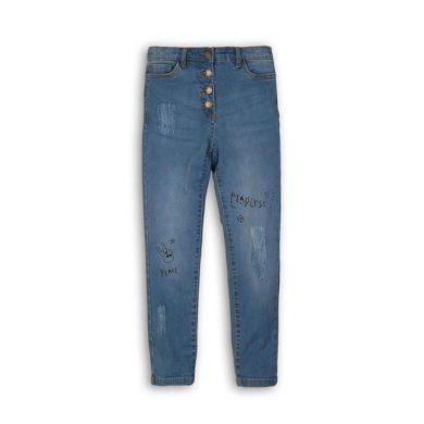 Minoti Kalhoty dívčí džínové s elastenem, Minoti, Wilderness 7, modrá