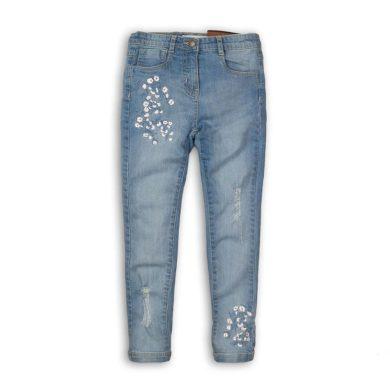 Minoti Kalhoty dívčí džínové s elastenem, Minoti, Hydrangea 7, modrá