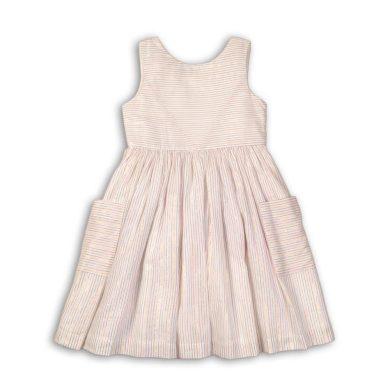 Minoti Šaty dívčí bavlněné, Minoti, Island 3, bílá