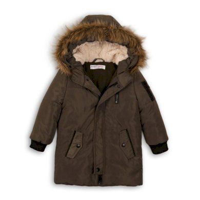Minoti Kabát dívčí zimní Puffa podšitá chlupem, Minoti, LAND 2, khaki