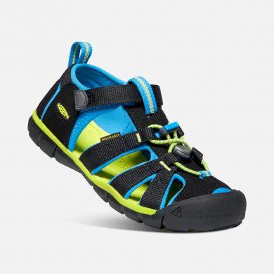 Keen Dětské sandály SEACAMP II CNX, BLACK/BRILLIANT BLUE, keen, 1022984/1022969, černá