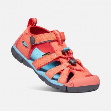 Keen Dětské sandály SEACAMP II CNX, CORAL/POPPY RED, keen, 1022989/1022941/1022974, červená