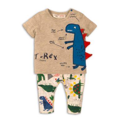 Minoti Kojenecký set chlapecký - tričko a kalhoty, Minoti, Rex 4, šedá