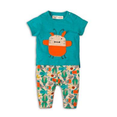 Minoti Kojenecký set chlapecký - tričko a kalhoty, Minoti, Leaf 1, kluk