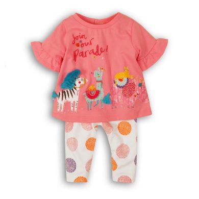 Minoti Kojenecký set dívčí - tričko a kalhoty, Minoti, Parade 6, růžová