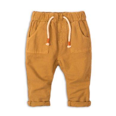 Minoti Kalhoty kojenecké lněné, Minoti, Camel 1, hnědá