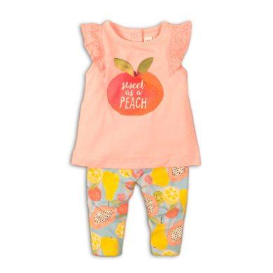 Minoti Kojenecký set dívčí - tričko a kalhoty, Minoti, Fruits 4, růžová