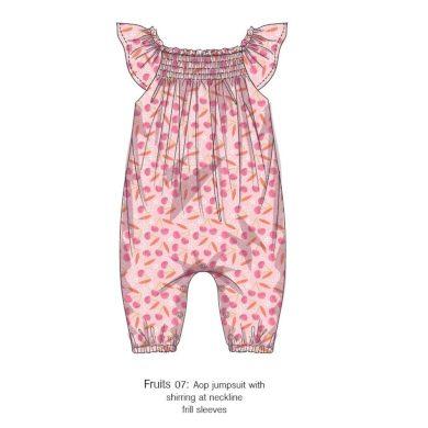 Minoti Overal kojenecký dívčí, Minoti, Fruits 7, růžová