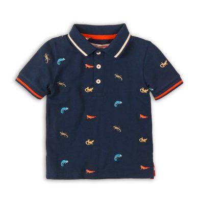 Minoti Tričko chlapecké Polo s krátkým rukávem, Minoti, Lizard 6, tmavě modrá