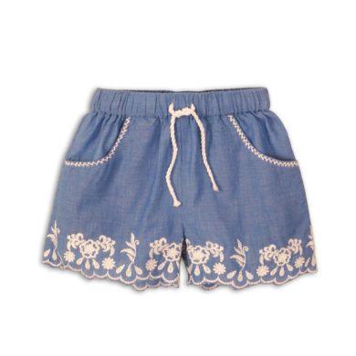 Minoti Kraťasy dívčí bavlněné vyšívané, Minoti, Picnic 5, modrá