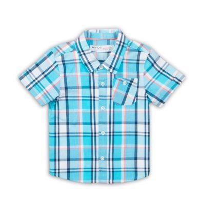 Minoti Košile chlapecká s krátkým rukávem, Minoti, Crab 6, modrá