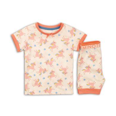 Minoti Pyžamo dívčí krátké, Minoti, PYJA 28, bílá