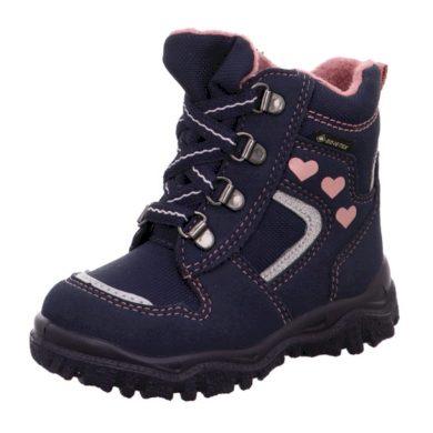 Superfit Dívčí zimní boty šněrovací HUSKY1 GTX, Superfit, 1-000046-8000, modrá