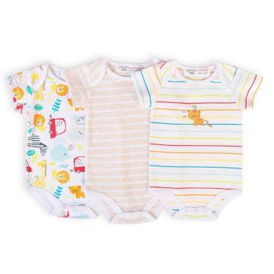 Minoti Body kojenecké 3pack, Minoti, Car 10, bílá