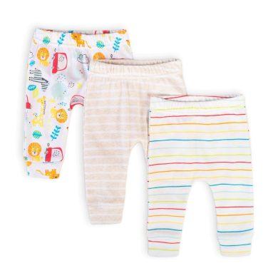 Minoti Kalhoty kojenecké 3pack, Minoti, Car 11, bílá
