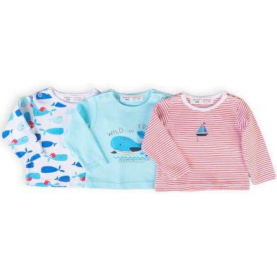 Minoti Tričko kojenecké s dlouhým rukávem 3pack, Minoti, Ship 8, kluk