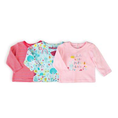Minoti Tričko kojenecké s dlouhým rukávem 3pack, Minoti, Ladybug 4, holka