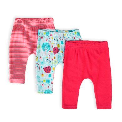Minoti Kalhoty kojenecké 3pack, Minoti, Ladybug 5, holka