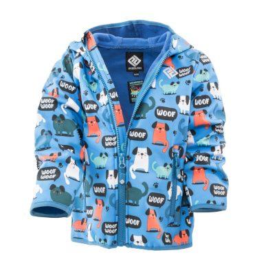 Pidilidi chlapecká softshellová bunda s potiskem a pevnou kapucí, Pidilidi, PD1088-02, modrá