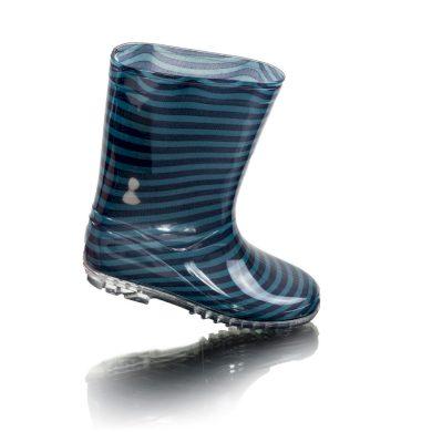 Pidilidi chlapecké holínky PVC - potisk modré pruhy, Pidilidi, PL0091, modrá