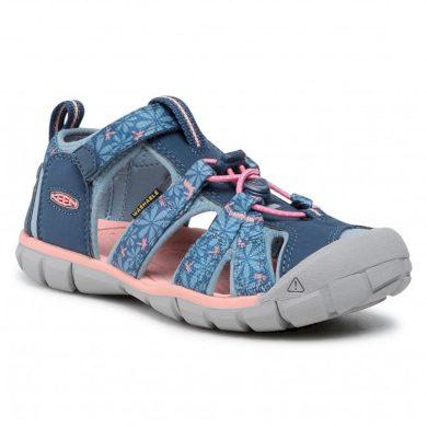 Keen Dětské sandály SEACAMP II CNX, REAL TEAL/STONE BLUE, keen, 1025153,1025138,1025107, modrá