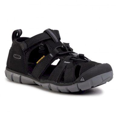 Keen Dětské sandály SEACAMP II CNX, BLACK/STEEL GREY, keen, 1020690,1020670, černá