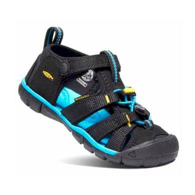 Keen Dětské sandály SEACAMP II CNX, black/keen yellow, Keen, 1025141/1025128/1025108, černá