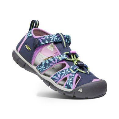 Keen Dětské sandály SEACAMP II CNX, black iris/african violet, Keen, 1025149/1025136/1025109, fialová
