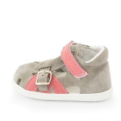 JONAP dětské sandály J009/S šedá/růžová, Jonap, růžová