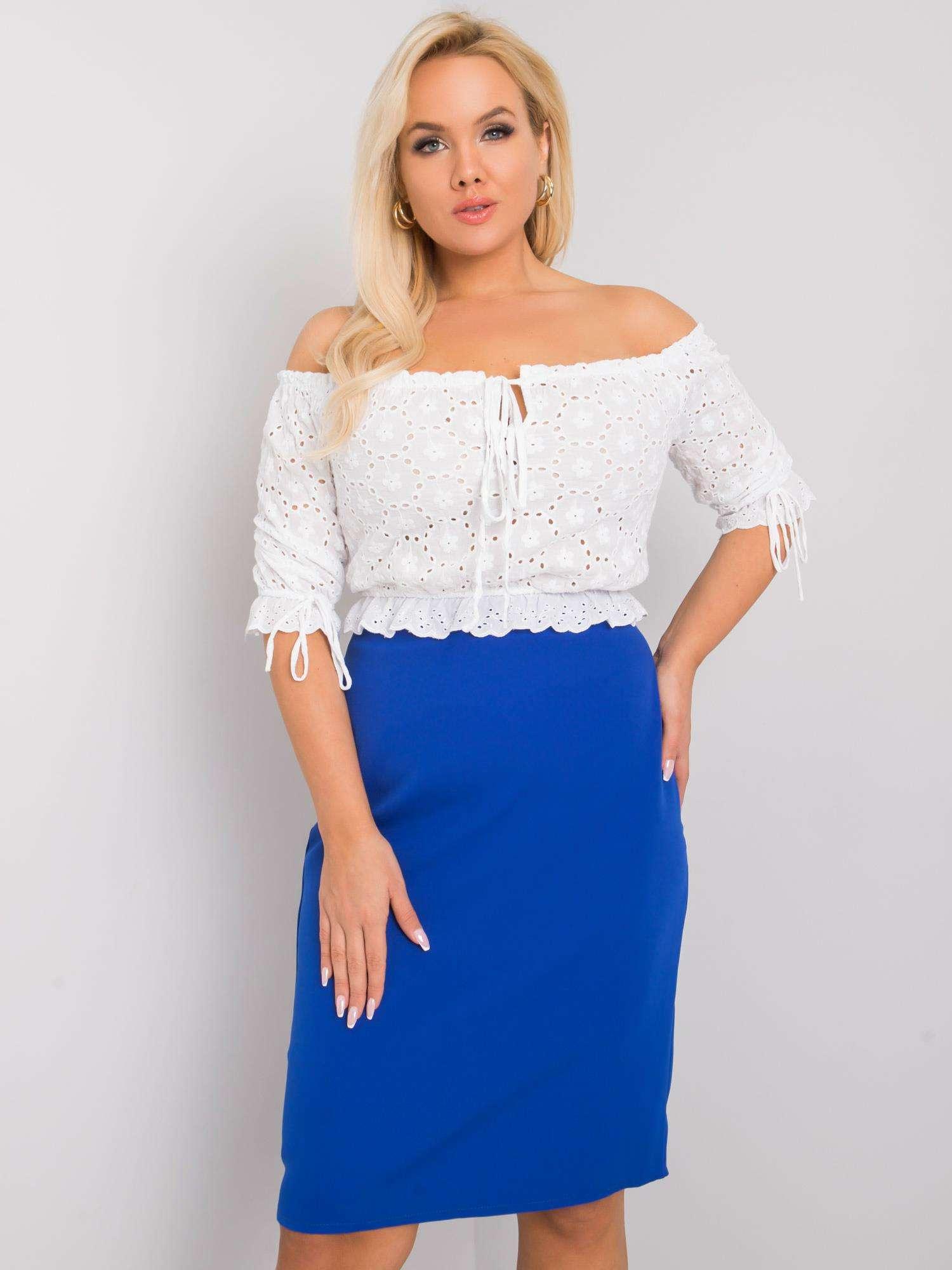 Modrá elegantní sukně -LK-SD-507580.39X-kobal Velikost: 44