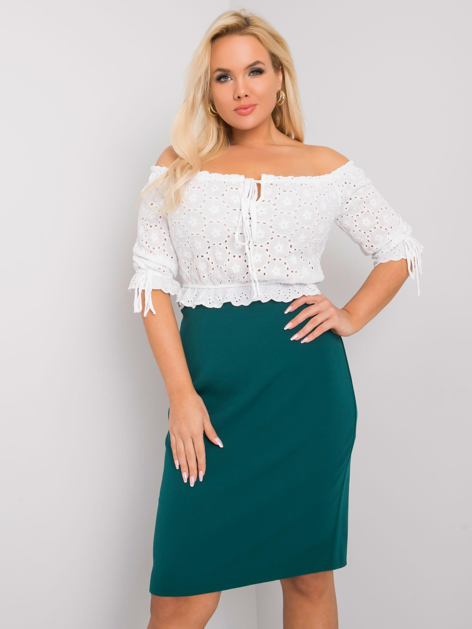 Tmavě zelená elegantní sukně -LK-SD-507580.39X-dark green Velikost: 44
