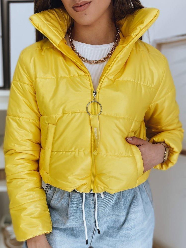 Žlutá dámská prošívaná bunda TY1893 Velikost: S